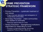 crime prevention strategic framework