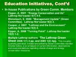 education initiatives cont d
