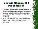 climate change 101 presentation