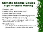 climate change basics signs of global warming
