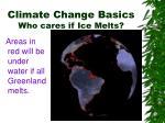 climate change basics who cares if ice melts