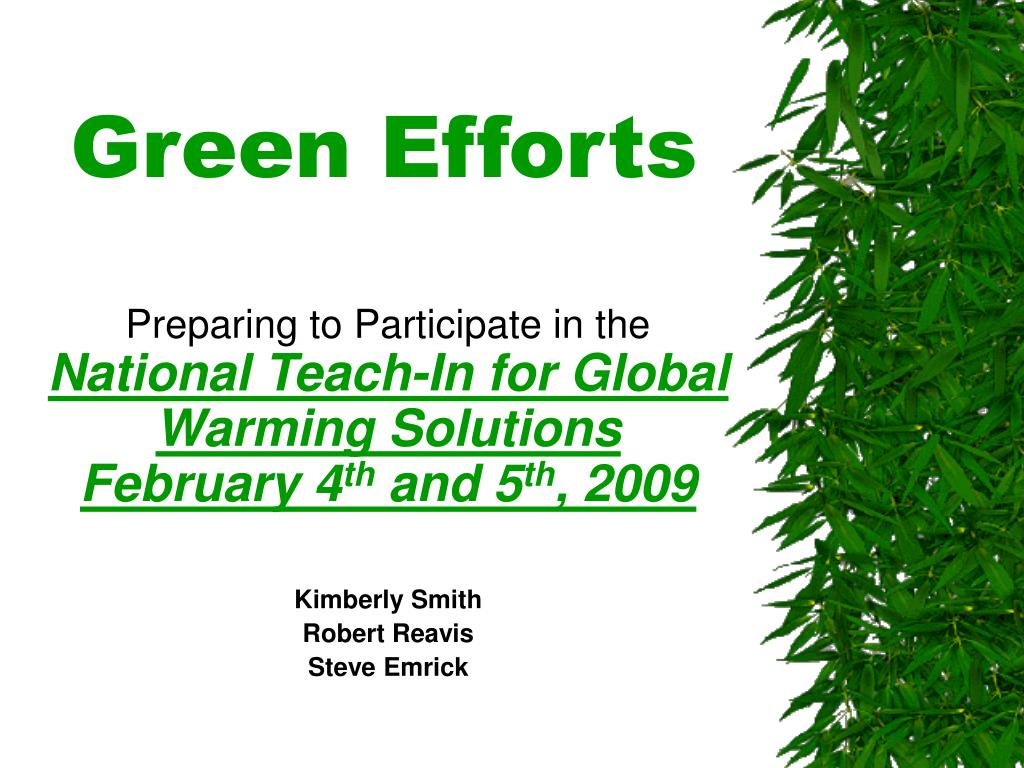 green efforts l.