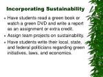 incorporating sustainability22