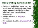 incorporating sustainability23