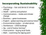 incorporating sustainability24