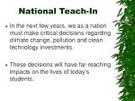 national teach in