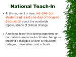 national teach in27