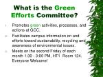 what is the green efforts committee