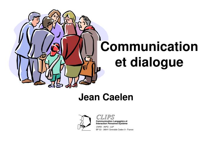 communication et dialogue n.