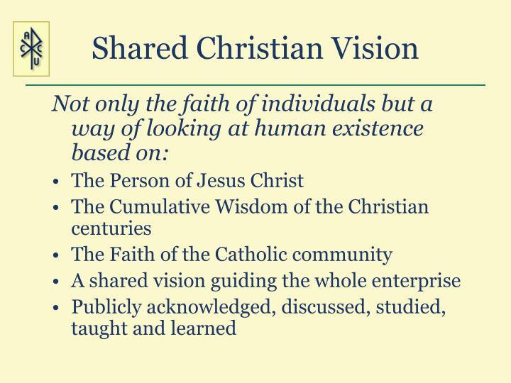 Shared Christian Vision