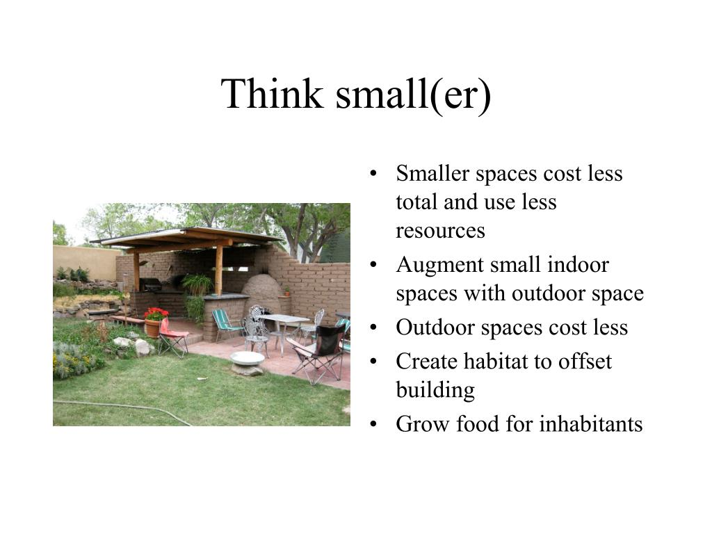 Think small(er)