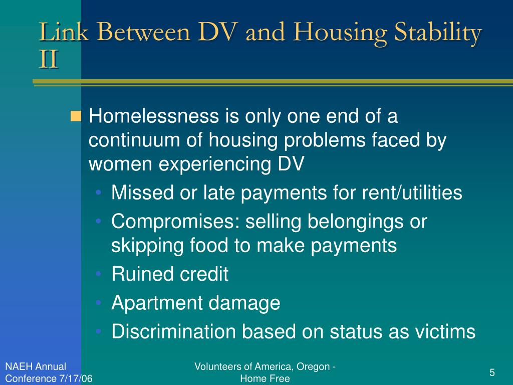 Link Between DV and Housing Stability II