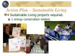 action plan sustainable living