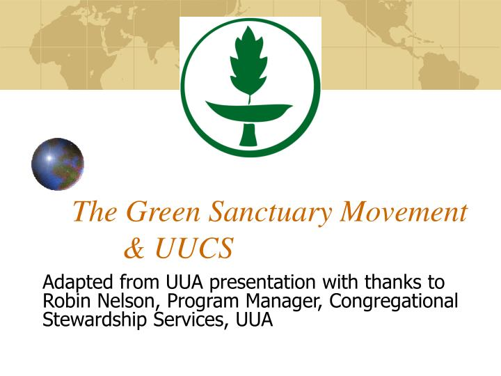 The green sanctuary movement uucs