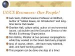 uucs resources our people