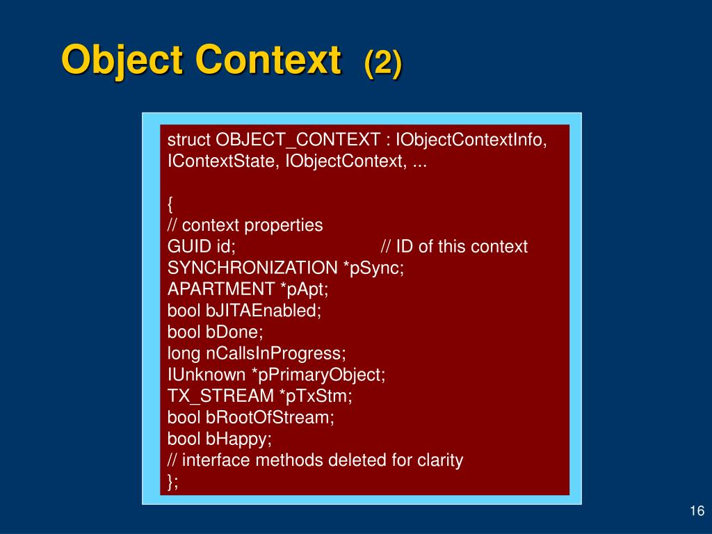 Object Context