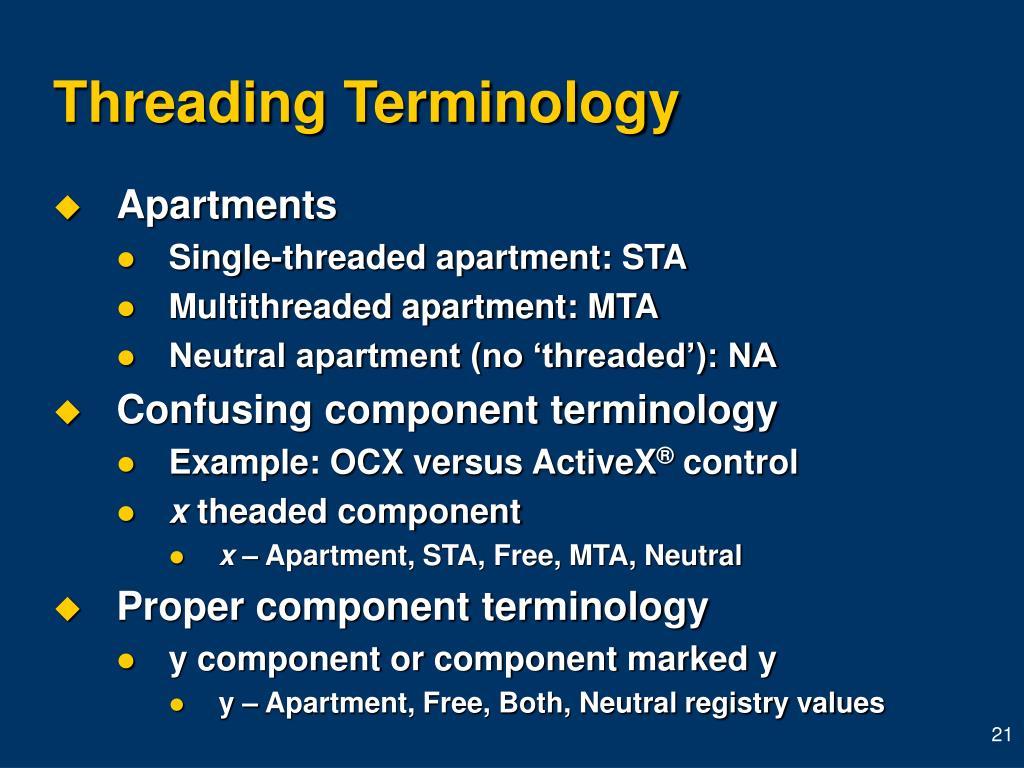 Threading Terminology