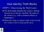 how identity theft works13