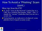 how to avoid a phishing scam cont26