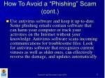 how to avoid a phishing scam cont27