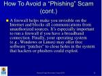 how to avoid a phishing scam cont28