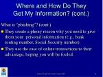 where and how do they get my information cont20