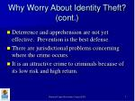 why worry about identity theft cont7