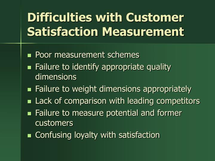 Difficulties with Customer Satisfaction Measurement