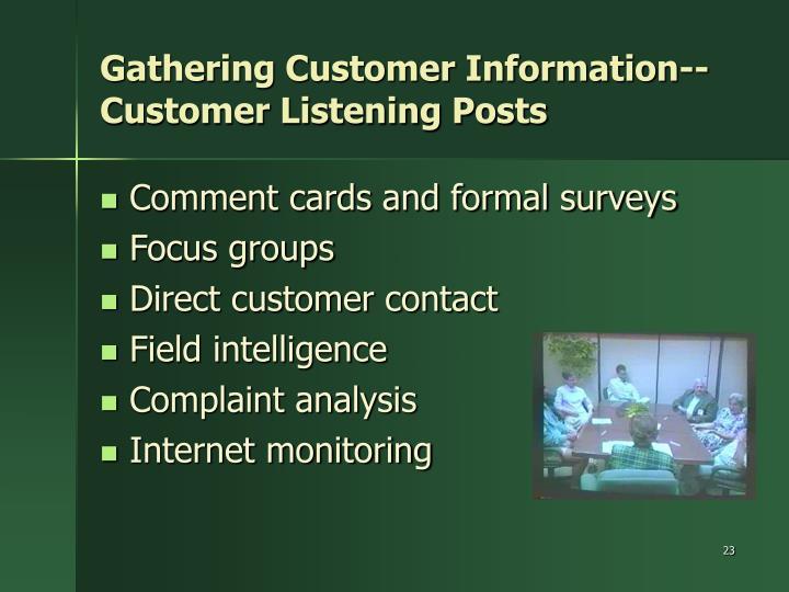 Gathering Customer Information--