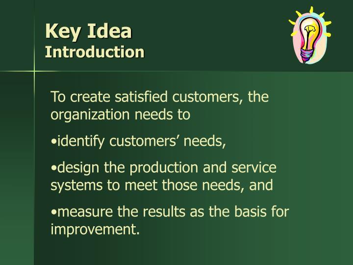 Key idea introduction
