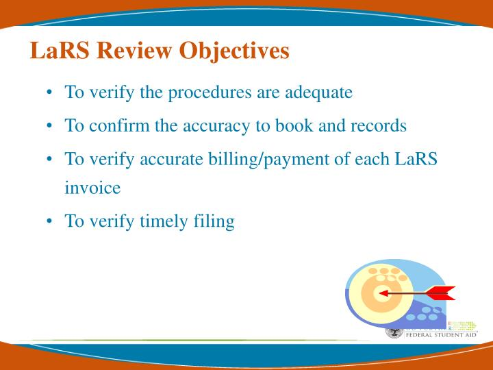 LaRS Review Objectives