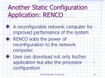 another static configuration application renco