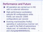 performance and future