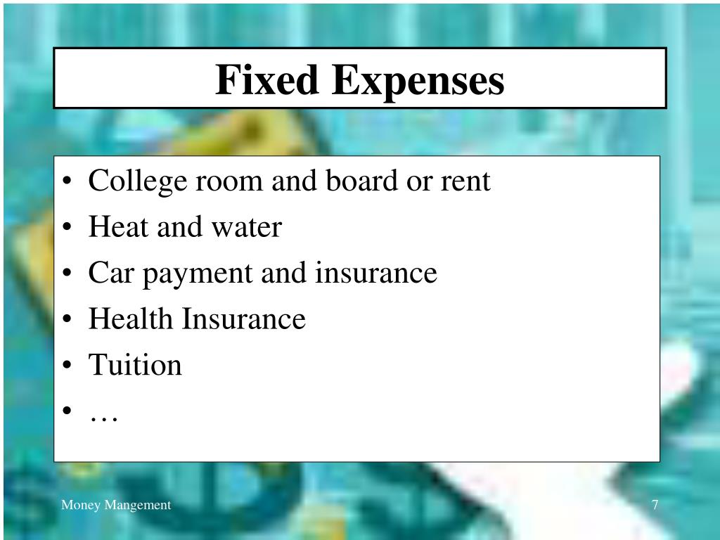 Fixed Expenses