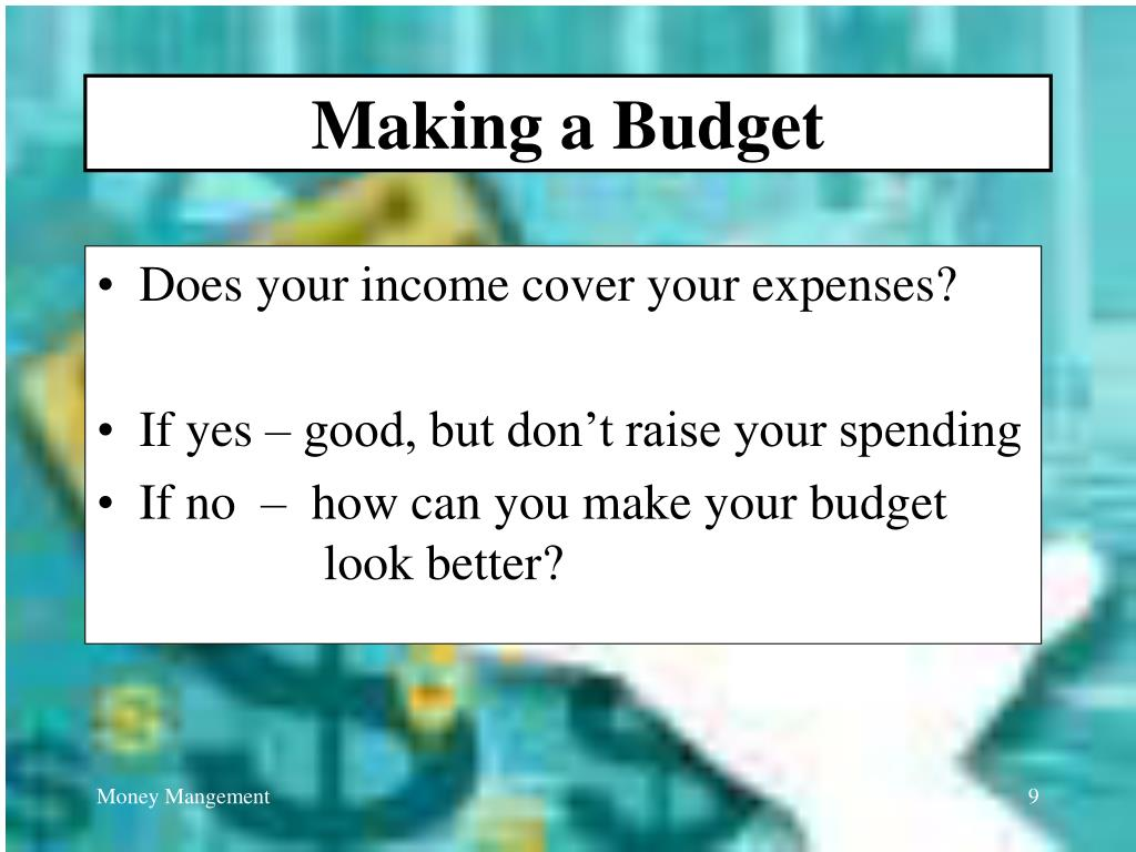 Making a Budget