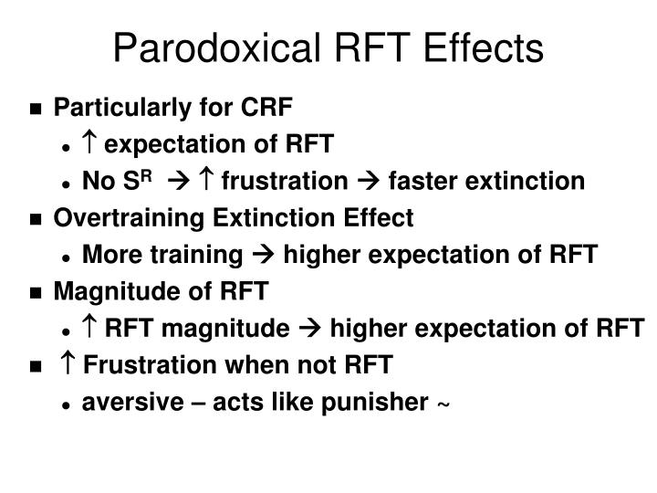 Parodoxical RFT Effects