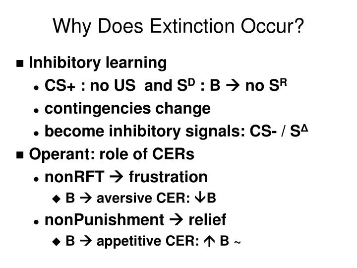 Why Does Extinction Occur?