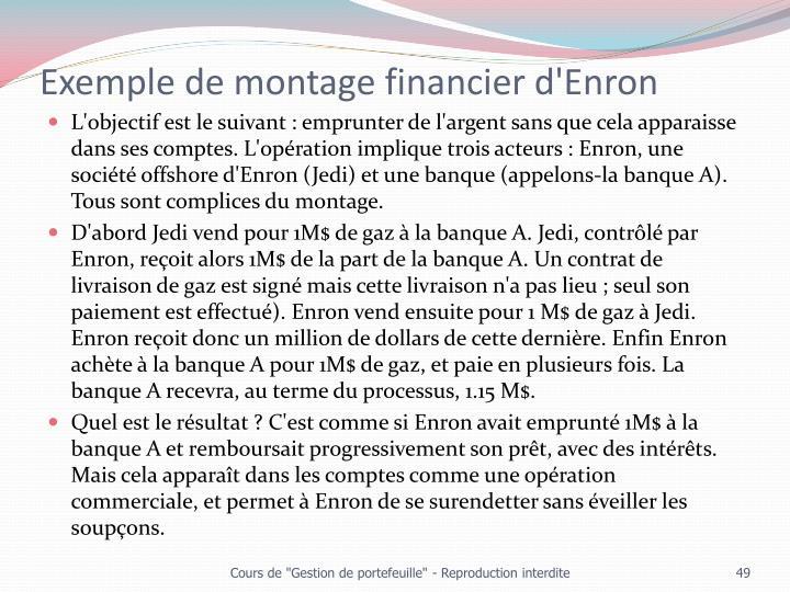 Exemple de montage financier d'Enron