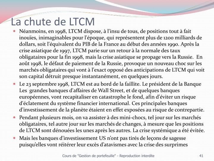 La chute de LTCM