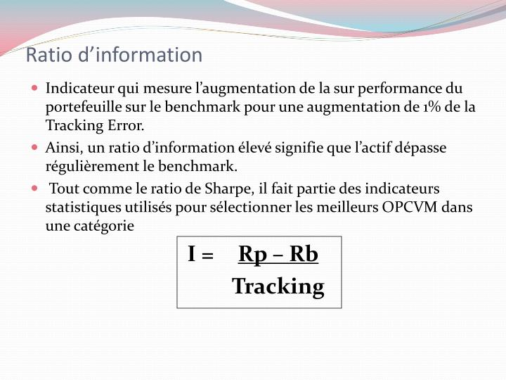 Ratio d'information