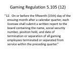 gaming regulation 5 105 12