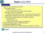 status july 2004