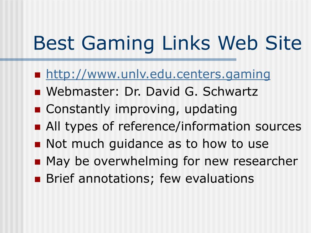 Best Gaming Links Web Site
