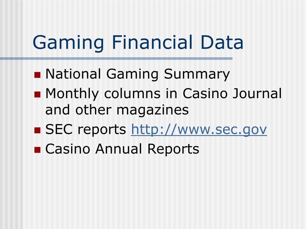 Gaming Financial Data