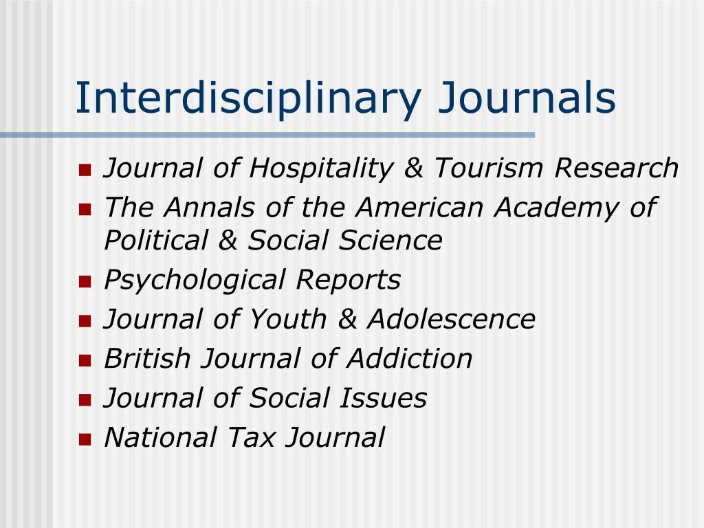 Interdisciplinary Journals