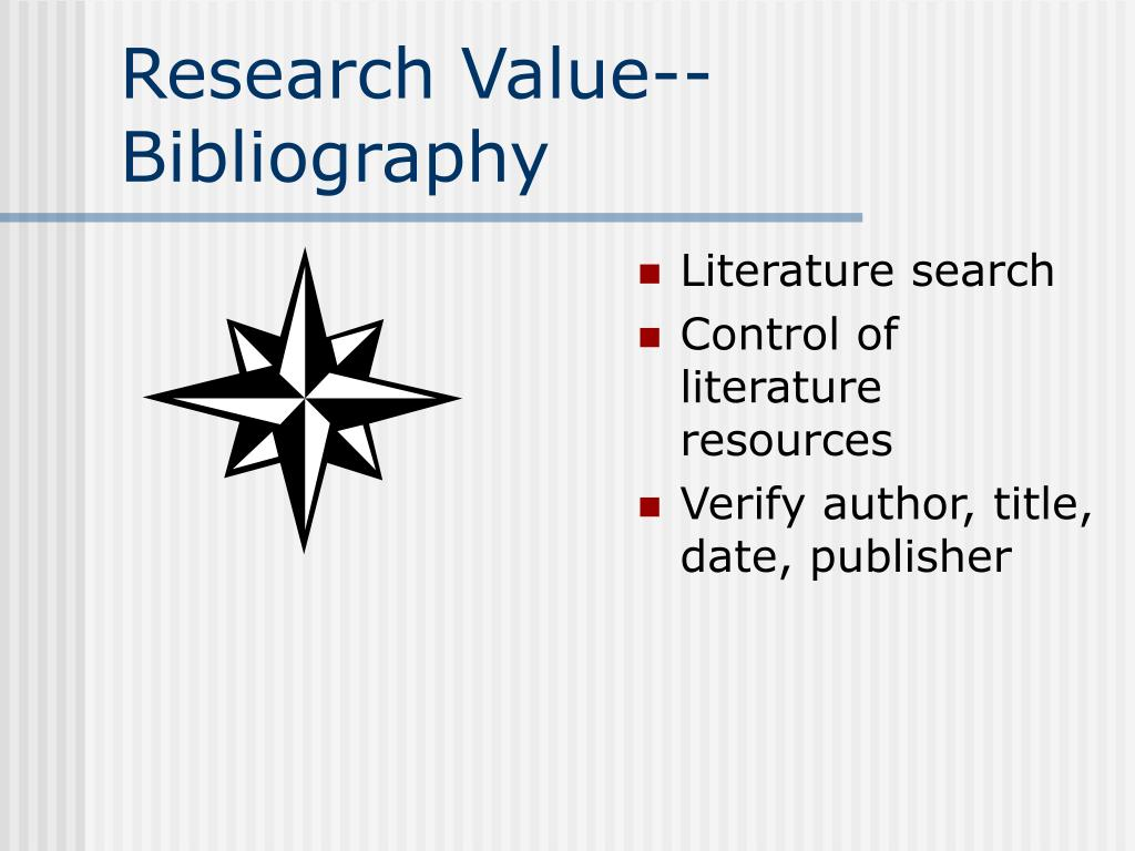 Research Value--Bibliography