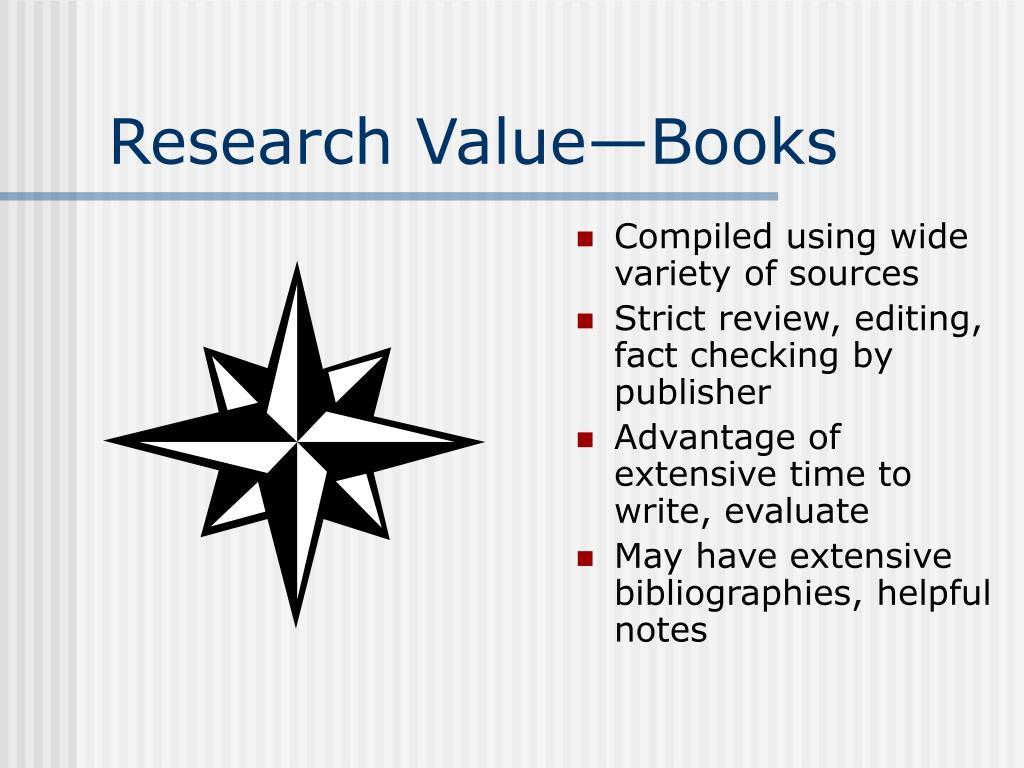 Research Value—Books