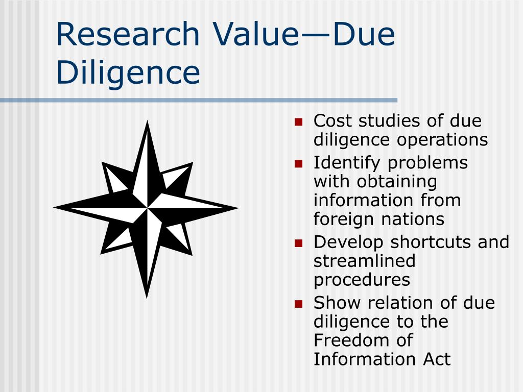 Research Value—Due Diligence