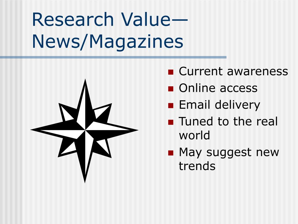 Research Value—News/Magazines