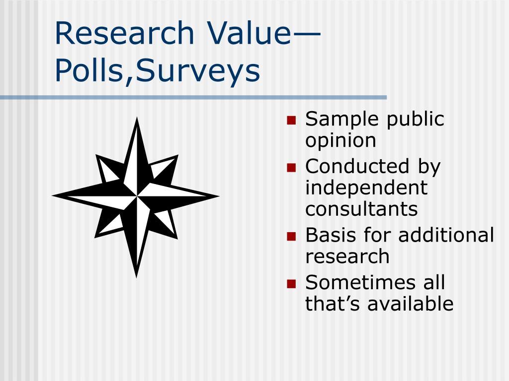 Research Value—Polls,Surveys